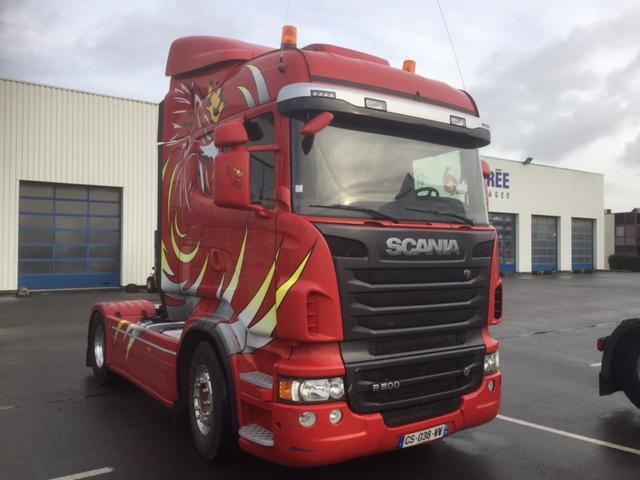 Scania r500la groupe aubr e garages for Garage peugeot cesson